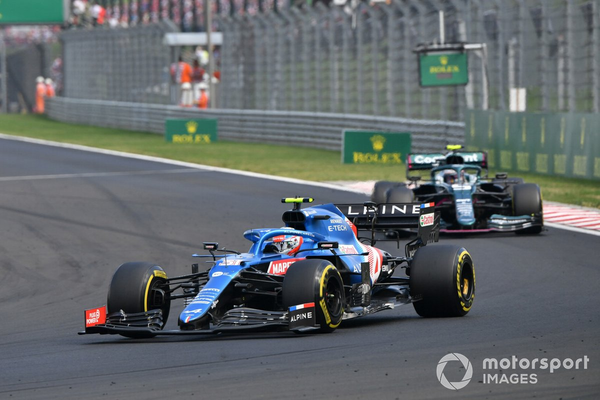 Tracking Ocon throughout the race, Vettel didn't have much opportunity to save fuel