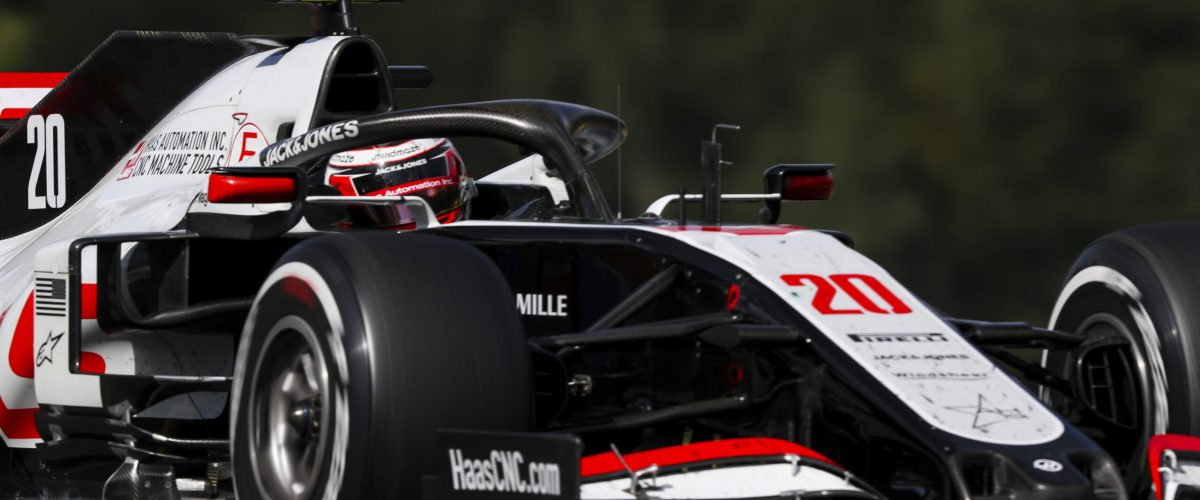 SPA-FRANCORCHAMPS, BELGIUM - AUGUST 30: Kevin Magnussen, Haas VF-20 during the Belgian GP at Spa-Francorchamps on Sunday August 30, 2020 in Spa, Belgium. (Photo by Charles Coates / LAT Images)