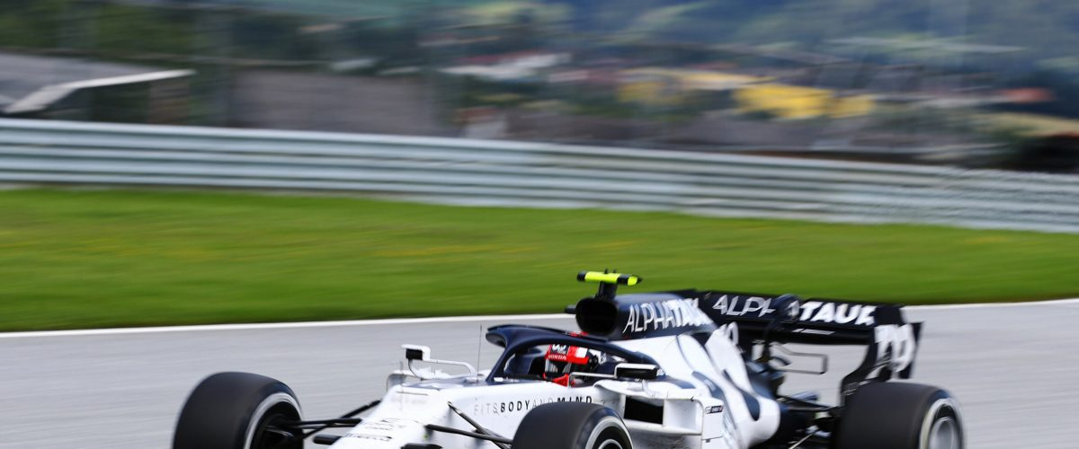 SPIELBERG, AUSTRIA - JULY 12: Pierre Gasly of France driving the (10) Scuderia AlphaTauri AT01 Honda on track during the Formula One Grand Prix of Styria at Red Bull Ring on July 12, 2020 in Spielberg, Austria. (Photo by Mark Thompson/Getty Images) // Getty Images / Red Bull Content Pool  // SI202007120107 // Usage for editorial use only //